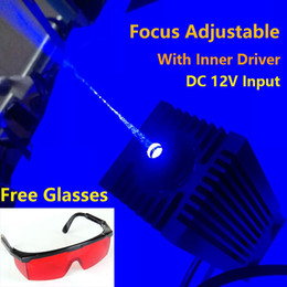 Wholesale Laser Real - Focusable High Power Diode Real 2500mW 2.5W 445-450nm Blue Laser Module DC12V for Laser cutter engraving machine cnc diy laser free glass