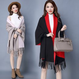 Wholesale One Size Cardigans - One Size Cashmere Women's Coat Lady Trench Coat Overcoats Outerwear Clothes Dust Coats Autumn Winter Surcoat Greatcoat Clothing Cape Poncho