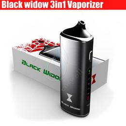 Wholesale E Vapor Dry Oil Wax - Black Widow Kingtons 3in1 wax oil dry herb mod box kit herbal vaporizer e juice Liquid vapor mods vape pen e cigarettes Kits DHL