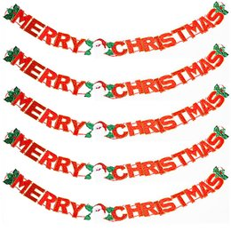 "Wholesale Luminous Braces - factorytrade Christmas Supplies Decorative door banners Lateral bracing ""Merry Christmas"" christmas decorations top quality free shipping"