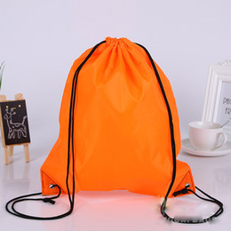Wholesale Promotions Marketing - 100pcs New Drawstring 210polyest fabric Tote bags waterproof Backpack folding bags Marketing Promotion drawstring shoulder bag shopping bags