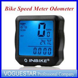 Wholesale Odometer Bike Wireless - Cycling computers bicycle meter Clock Stopwatch Bike speedometer odometer computer waterproof Accessories LCD multi-function DHL free