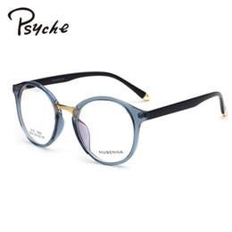 Wholesale reading glasses round - Wholesale- PSYCHE Plain Ultra-Light Reading Glasses Round Frame For Female Grade Glasses Vintage Leopard Eyeglasses Men Oculos Grau X1788