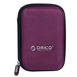 """Wholesale External Hard Drive Bags - ORICO 2.5"""" Hard Drive Disk HDD Protective Carrying Shell Case Cover Bag for 2.5 Inch Portable External Hard Drive Purple"""