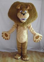Wholesale Lion Adult Costumes - Wholesale-Madagascar Lion Alex Mascot Costume Animal Mascot adult Costume Free shipping
