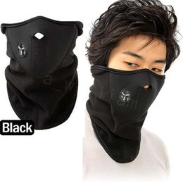 Wholesale Neoprene Mask Cover - Neoprene Neck Half Face Mask Cover Ride Bike Hat CS Mask Winter Veil Men Women Outdoor Bicycle Cycling Motorcycle Ski Snowboard 50pes