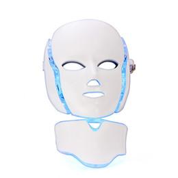 2019 ems maschera 7 colori LED maschera facciale collo EMS Microelectronics LED Photon maschera antirughe rimozione anti acne pelle ringiovanimento viso bellezza spa sconti ems maschera