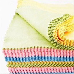 Wholesale Microfiber Lens Cloths - Superfine fiber Glasses Cloth lens Cleaning Cloth sunglass cloth eyewear Microfiber lens Cleaning Cloths 4 colors mixted 14*14cm