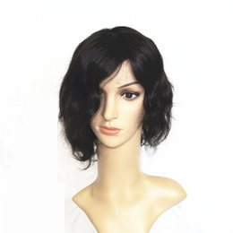 Wholesale Cheap Prices For Human Hair - Cheap Price Side Part Body Wave Short Wigs 100% Human Hair Wigs For African Americans 120% Density 16inch 1B Black Color