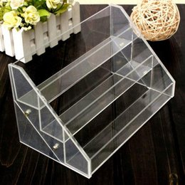 Wholesale Large Acrylic Display Stands - 3 Tier 30 Bottles Clear Acrylic Display Stand Large Rack Organizer Nail Polish Salon Wall Cosmetic Shipping Good Quality