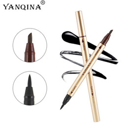 Wholesale China Eyes Makeup - Double Eyeliner and Eyebrow YANQINA Waterproof Sweatproof Liquid Eyeliner China Brand Top Quality Makeup for Eye 2 Color Chooes