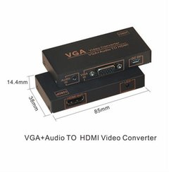 Wholesale full video converters - VGA & Audio Video to HDMI Converter Ondersteuning HDCP Full HD 1080 p VGA naar HDMI LCD Monitor DLP Project
