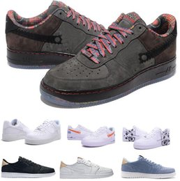 Wholesale Toe Shoes China - Bests Force Casual Shoes Men Man Mens China Retro 1 One Low Leisure Loafers Flat Black Zapatilla Hombre Oxford Replica Shoes Size 7-12