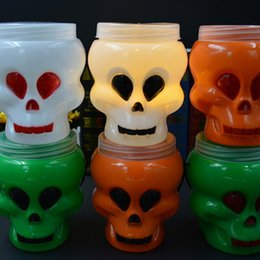 Wholesale Hot Events - Hot Halloween Skull Bucket Supplies Skull Stage Props Bonbonniere Festival Event Party Decoration Party Supplies CCA7457 60pcs