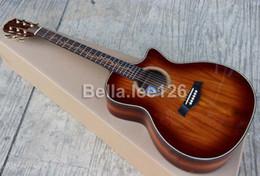 Negozio di chitarre personalizzato, 41 '' tagliato a mano, OEM, corpo materiale KOA, tastiera in palissandro, chitarre di spedizione gratuite da mouse elettrico fornitori
