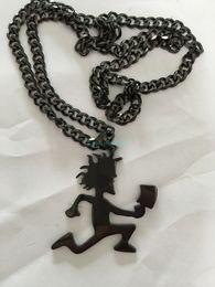 "Wholesale Match Steel - Punk Design Best Gifts Black ICP HATCHETMAN 2"" Boy High Polished Stainless Steel pendant w matching 5mm cuban chain"