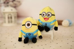 Wholesale Despicable Minion Stuart - Wedding Keychains wedding gift Movie Minions Plush Dolls Kevin Stuart 10cm Eyes Despicable Me 2 Stuffed Toys Favors for 2016 Christmas gift