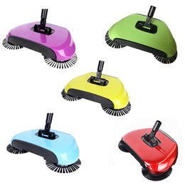 Wholesale Home Electricity - Sweeping Machine Magic Broom Dustpan Handle Push Magic Broom Without Electricity Robotic Hard Floor Sweeper Cleaner Tool 36pcs OOA3353