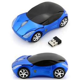 Wholesale Mini Car Shaped Computer Mouse - Wireless Mouse Car Shape Mouse USB Optical KRT3 Mini Mice for PC Laptop Computer Home Office USE