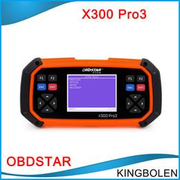 Wholesale Odometer Correction Key Programmer - DHL Free OBDSTAR X300 PRO3 Key Master OBDII X-300 Auto Key Programmer OBD2 Odometer Correction Tool EEPROM PIC Update Online