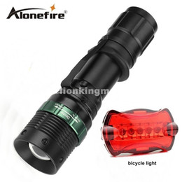 Wholesale Cree Q5 Bicycle - E3 Waterproof CREE 1200 Lumen torch Tactical Zoom Cree led flashlight Light For 18650 Battery lanternas led cree+bicycle lights