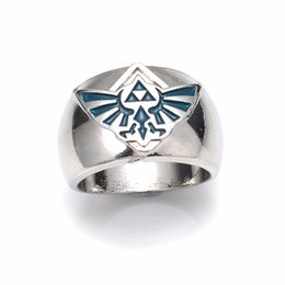 Wholesale Legend Zelda Accessories - Hot Sale 2016 Legend of Zelda Triforce Zelda Words Ring Logo Symbol Diameter Ring In Zinc Alloy Rings Accessory for men wholesale