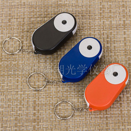 Wholesale Folding Magnifiers - Fashin Mini Pocket Folding LED Light 15X Loupe Magnifier Magnifying Glass with Keychain F589