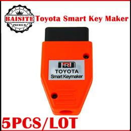 Wholesale New Toyota Smart Key - 2017 New Arrival Toyota Smart Key Maker 4C 4D Chip for Toyota Smart Key maker programming OBD2 Eobd Transponder Chip key programmer