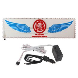 Wholesale sound activated lamp - Colorful Wing Car Sticker Music Rhythm LED Light Lamp Car Styling Sound Music Activated Lights Stickers