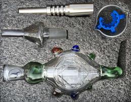micro nc collettore di nettari Sconti Vendita calda Nectar Collector Kit Micro NC 14mm 18mm con secchielli in titanio Tubo in vetro Nectar Titanio Nail pipe per fumare l'acqua