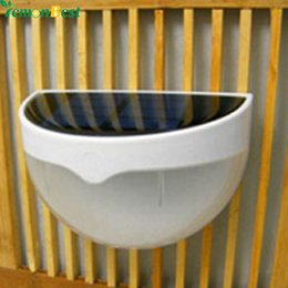 Wholesale Panel Fencing - Wholesale-LED Solar Power Panel lights 6 LED Light Sensor Waterproof Outdoor Fence Garden Pathway Wall Lamp Lighting