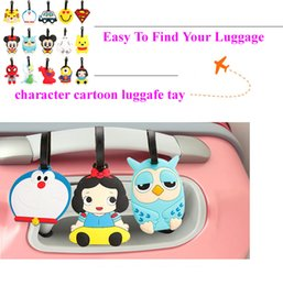 Wholesale Wholesale Personalized Luggage - Fashion lovely cartoon luggage tags pvc travel baggage tag PERSONALIZED Identification card suitcase label Bag jewelry Pendants accessories