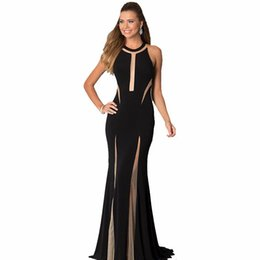 Wholesale Supper Deals - RF70202 Free shipping fashion sleeveless women dress supper deal o-neck sheath long dress hot sale floor-length lady party dress