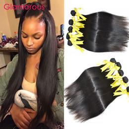 Wholesale Good Quality Hair Extensions - Glamorous Brazilian Hair Weaves 5Pcs Lot Good Quality Peruvian Indian Malaysian Straight Human Hair Extensions Cheap Hair Bundles