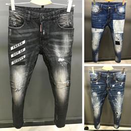 Wholesale Men Jeans Factories - 2017 new fashion design men ripped jeans famous brand biker jeans men top quality wholesale factory