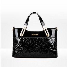 Wholesale Tote Shoulder Bags Handbag - 2016 Latest Design Leather Handbag Fashion Brand Women Embossed roses bag,Women Shoulder bag Women Messenger bag Women's Totes
