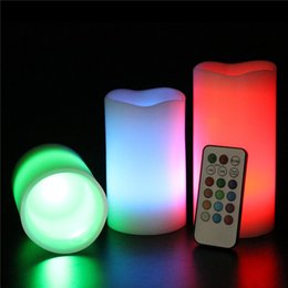 Wholesale Colour Change Candles - Creative Romatic Flameless Magic Electric Candle Light Colour Changing LED Candle Wedding Christmas Party Valentines Gift