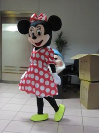 Wholesale Minnie Mouse Character Costume - Minnie Mouse Mascot Costume Adult Size Classic Minnie Mouse Cartoon Character Costumes Free Shipping