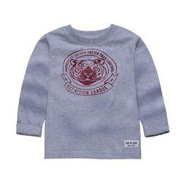 Wholesale T Shirt Fashion Tiger Girl - 2-6 years Boys Gary Tiger Printed T-shirt Kids Long Sleeve 100% Cotton t shirts Baby Girls BrandTops Children Spring Autumn Clothing