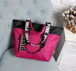 Wholesale Fabric Storage Totes - free shipping Women Storage Bag Fashion Brand Handbag Casual Shopping Bags Messenger Bags Tote Shoulder bag PINK Hot makeup organizer