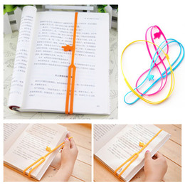 Wholesale Bookmark Hooks - Wholesale-Silicone Bookmarks Elasticity Home Bookends Holder Racks Book Clip Storage Organizer Reader Tool office Accessories Supplies
