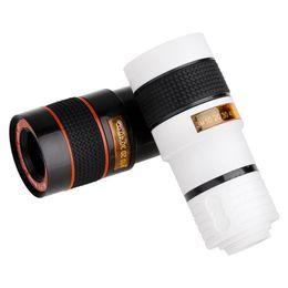 2019 clip livre x Navio livre new universal 8x ampliação zoom optical mobile phone telescope camera lens com clip para iphone 5 6 7 plus samsung lg huawei clip livre x barato