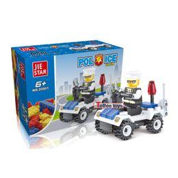 Wholesale Diy Police - Children's toys police cruiser assembled enlightenment DIY toys building blocks sets boy girl kids gifts Wholesale