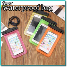 Wholesale Snow Proof Iphone Case - Waterproof Pouch Universal Phone Bag Clear Transparent Swim Diving Case Cover dust snow proof clear phone bag dhl free shipping