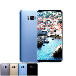 Wholesale Cellphones Touch Screen - Goophone S8 plus unlocked cellphone Quad core 1G ram 4G rom 5.8 inch full Screen Show 128GB fake 4g lte Android Smartphone