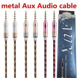 2019 xbox hdmi lead Trançado de metal Aux Audio Aux Cable 1 m 3ft 3.5mm AUX Extensão Macho para Macho Estéreo Do Carro Nylon Cord Jack Para Samsung HTC