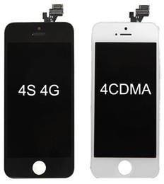 apfel iphone 4s lcd Rabatt LCD-Display-Touchscreen-Digitizer-Ersatzteil für die Vorderseite 4 für 4G 4S DHL Free SNP015