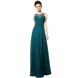 Wholesale Turquoise Mother Bride - Turquoise Evening Dresses 2016 Two Shoulders Mother of the Bride Groom Dresses Formal Arabic Formal Prom Gowns with Beads Party Dress
