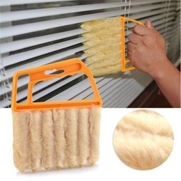 Wholesale Household Blinds - Dismountable Washable Vertical Window Blinds Brush Cleaner Mini 7 Shape Hand Held Window Brush Pinceis Novelty Households Cleaning S332