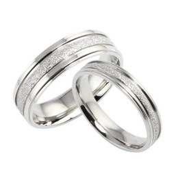 Wholesale Design Mixed Stainless Steel Rings - 2016 Fashion Simple Retro Design Couple Wedding Ring Bands Classical Stainless Steel Men Women Jewelry Accessory 094